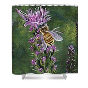 Honeybee On Liatis Shower Curtain