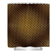 Honeycomb Background Seamless Shower Curtain