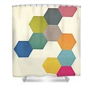 Honeycomb I Shower Curtain