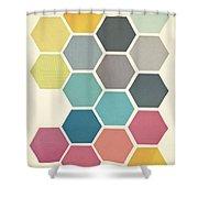 Honeycomb II Shower Curtain