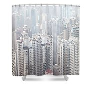 Hong Kong City In The Mist Shower Curtain
