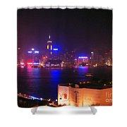 Hong Kong Skyline Shower Curtain by Pixel  Chimp