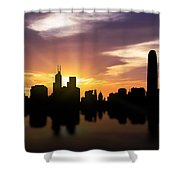 Hong Kong Sunset Skyline  Shower Curtain