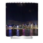 Hong Kong Symphony Of Lights Show Shower Curtain
