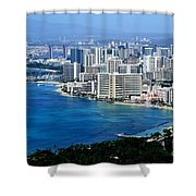 Honolulu And Waikiki From Diamond Head Shower Curtain