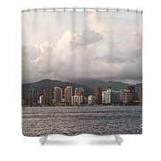 Honolulu At Sunset Shower Curtain