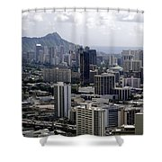 Honolulu - Diamond Head - Pacific Shower Curtain