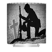 Honor In The Field Shower Curtain by Carolyn Marshall