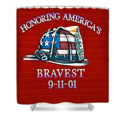 Honoring Americas Bravest From Sept 11 Shower Curtain