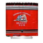 Honoring Americas Bravest Sept 11 Shower Curtain