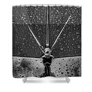 Hood Ornament In B And W Shower Curtain