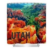 Hoodoos In Bryce Canyon Utah Shower Curtain