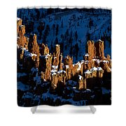 Hoodoos In Shadows Bryce Canyon National Park Utah Shower Curtain