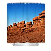 Hoodoos Row Shower Curtain