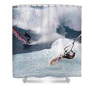 Ho'okipa Windsurfers Shower Curtain