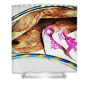 Hoola Hooping Shower Curtain