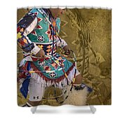Hoop Dancer Past And Present Shower Curtain
