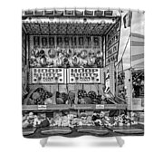 Hoop Shots Bw Shower Curtain