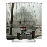 Hooper Straight Lighthouse Shower Curtain