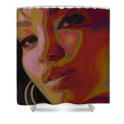 Hoops And Bangs Shower Curtain