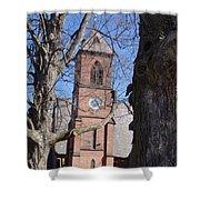 Hoosick Falls Brick Church Shower Curtain