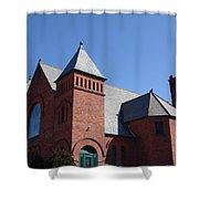 Hoosick Falls Church Shower Curtain