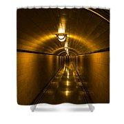 Hoover Dam Art Deco Tunnel Shower Curtain