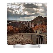 Hoover Dam Bridge Shower Curtain