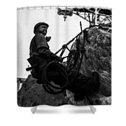 Hoover Dam Climber Shower Curtain