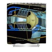 Hoover Dam Diagram Shower Curtain