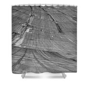 Hoover Dam Looking Down Shower Curtain