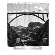 Hoover Dam Memorial Bridge Shower Curtain
