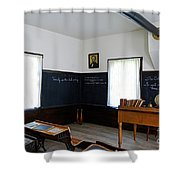 Hoover Historic Site Schoolhouse Classroom Shower Curtain