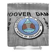 Hoover Logo  Shower Curtain