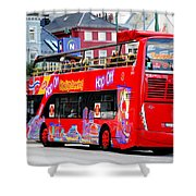 Hop On And Hop Off Bus In Bergen Shower Curtain