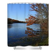 Hopeville Autumn Reflections     Shower Curtain