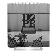 Hope And Chairs In Black And White Shower Curtain