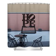 Hope And Chairs Shower Curtain