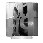 Hope Askew In Black And White Shower Curtain