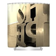 Hope Askew In Sepia Shower Curtain