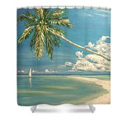 Hope Bay Shower Curtain by The Beach  Dreamer