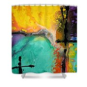 Hope - Colorful Abstract Art By Sharon Cummings Shower Curtain