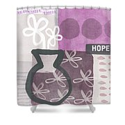 Hope- Contemporary Art Shower Curtain by Linda Woods