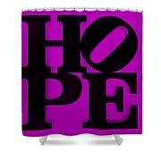 Hope In Purple Shower Curtain