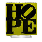 Hope In Yellow Shower Curtain