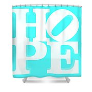 Hope Inverted Aquamarine Shower Curtain