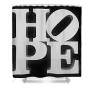 Hope Inverted Black Shower Curtain