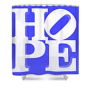 Hope Inverted Blue Shower Curtain