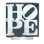 Hope Inverted Denim Shower Curtain