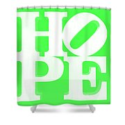 Hope Inverted Green Shower Curtain